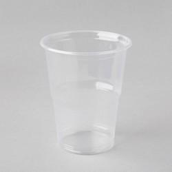 Plastmasas glāzes 300ml, caurspīdīgas, PP, iepakojumā 50gab.