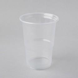 Plastmasas glāzes 400ml, caurspīdīgas, PP, iepakojumā 50gab.