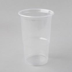 Plastmasas glāzes 500ml, caurspīdīgas, PP, iepakojumā 50gab.
