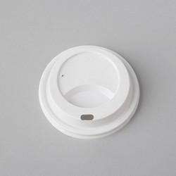 Plastmasas vāciņi ø80mm, balti, PS, iepakojumā 100gab.