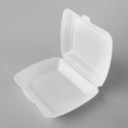 Plastmasas termo kārbas 245x210x72mm, baltas, EPS, iepakojumā 100gab.