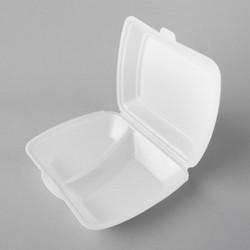 Plastmasas divdaļīgās termo kārbas 245x210x72mm, baltas, EPS, iepakojumā 100gab.