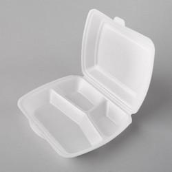 Plastmasas trīsdaļīgās termo kārbas 245x210x72mm, baltas, EPS, iepakojumā 100gab.