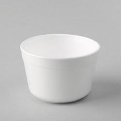Plastmasas termo trauki 460ml, balti, EPS, iepakojumā 25gab.