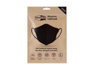 Sejas maska - respirators FFP2 Carbon (melna) 3gb/iepak