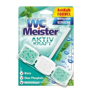 WC Meister tualetes bloks (piparmētru, eksotisko ziedu aromātu, alpju vai jūras smaržu) 45gr